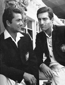 Hanif Mohammad and the Nawab of Pataudi (Mansur Ali Khan) chat at Lord's ahead of playing for the Rest of the World in 1965. Photo taken from espncricinfo.com