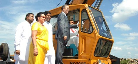 Hambantota port inaugural operarion on port opening first lady present