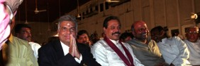Opposition leader Ranil Wickremasinghe and President Rajapakse at a Deepavali festival: Will the government negate the lifting of emergency law by bringing in new laws many ask