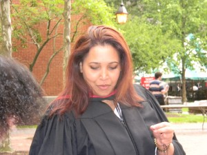 Sonali Samarasinghe on commencement day at Harvard University where she spent a year as a Nieman Fellow