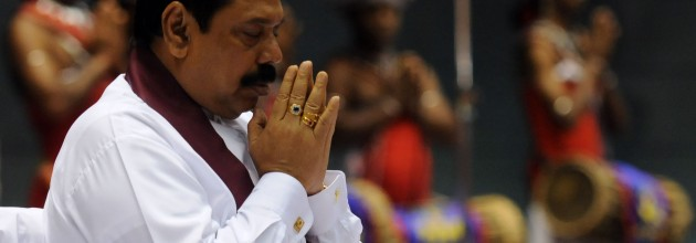 President Mahinda Rajapakse. Will he answer to the gods?