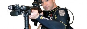 Anders Breivik, as he appears in an undated video, aiming an assault rifle. (Photo taken from the australian.com.au)  Breivik, 32, was a Christian fundamentalist with far-right, anti-Islamic views, who slaughtered over 80 teenagers on a Norwegian island and killed at least seven others with a bomb in central Oslo in 2010