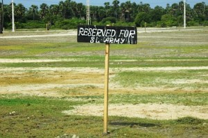Land reserved for the army