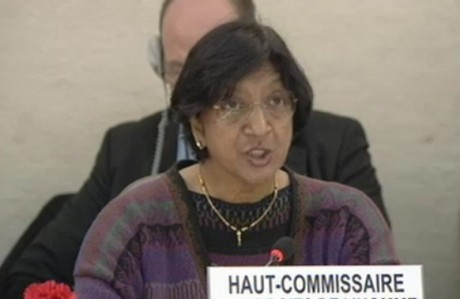 UN Human Rights Commissioner Navi Pillay says she hopes the UN Human Rights Council (UNHRC) will address reports on Sri Lanka. (File photo)
