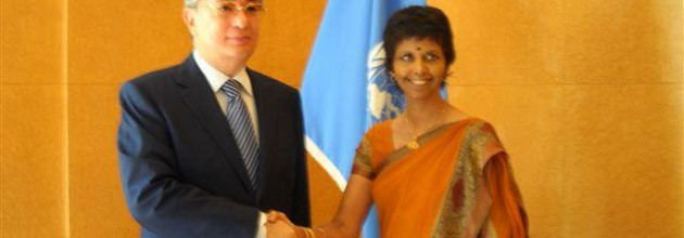 Lanka's Ambassador at the UN in Geneva, Tamara Kunanayakam (R)