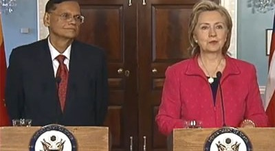 Hillary Clinton and G.L.Peiris