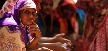 Tamil women in Mullaitivu, north-east Sri Lanka. Locals say the wait for justice and reconciliation continues. Photograph courtesy The Guardian, UK
