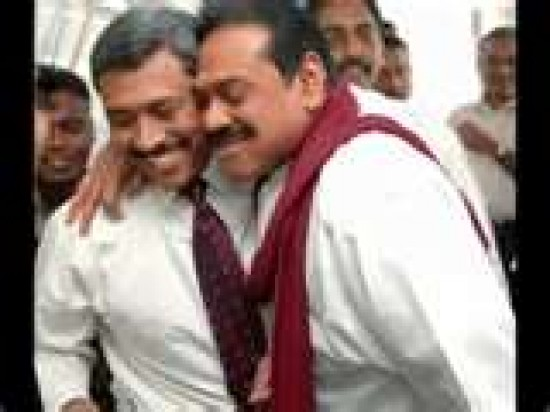 Above the law: Defence Secretary Gotabaya Rajapakse and President Mahinda Rajapakse.