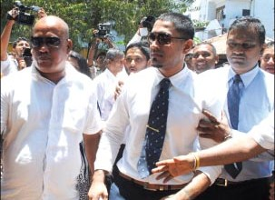 Malaka Silva being released on bail