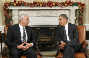 Colin Powell and President Obama (File photo)