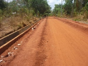 Road currently being constructed from the Kalawewa tank to the main road through Dissanayake's 'property'