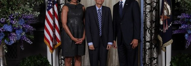 Minister G.L.Pieris gets a photo op with the POTUS and the FLOTUS at the UN in New York last week