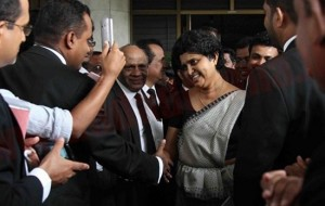 CJ arrives for impeachment hearing at the Parliamentary premises on November 23, 2012