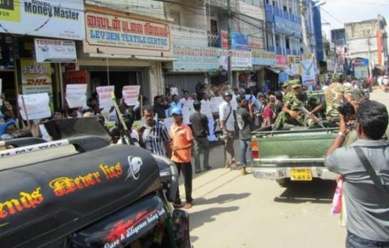 Protesters in Jaffna demand release of students