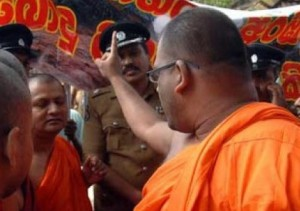 Monk protest East heritage 1
