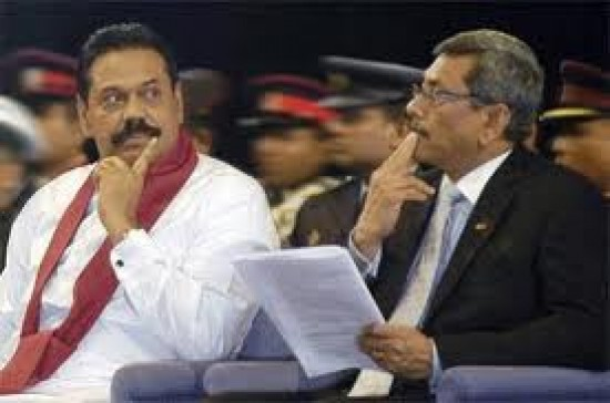 President Mahinda Rajapaksa (L) and his brother Defence Secretary Gotabaya Rajapaksa: Contemplating their next big move?