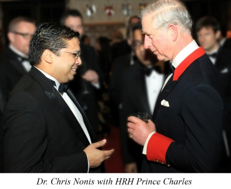 Nonis Dr. Chris with HRH Prine Charles Ambassador-UK1