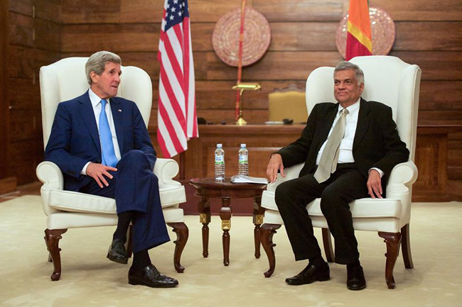 Kerry and PM Wickremasinghe